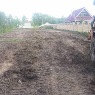 Расчистка и планировка участка, Богородский район, 2019г