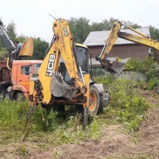 Расчистка участка, Андроново, 2020г