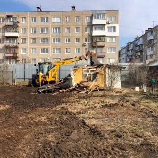 Расчистка участка с демонтажными работами и планировкой, Дзержинск, 2020г