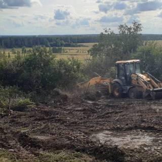 Расчистка участка, Ефимьево, 2020г