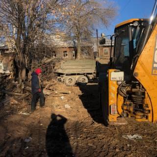 Расчистка участка, Оранжерейная, 2020г