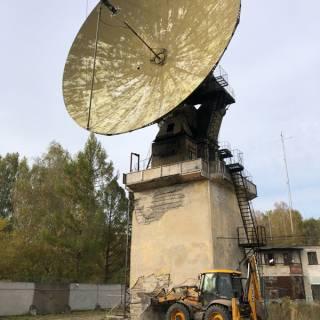 Расчистка участка, Радиолокационная база, 2020г